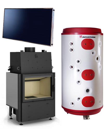 Hybridipaketti - Vesikiertotakka ja aurinkokeräimet